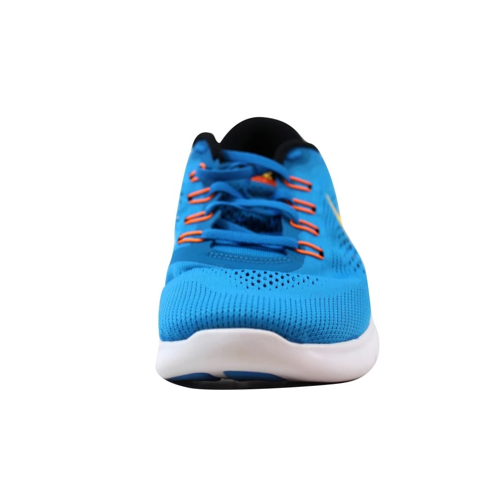 0847da58c896c Shop Nike Free RN Heritage Cyan Laser Orange-Black-Blue Spark 831508-402  Men s - Free Shipping Today - Overstock - 21141587