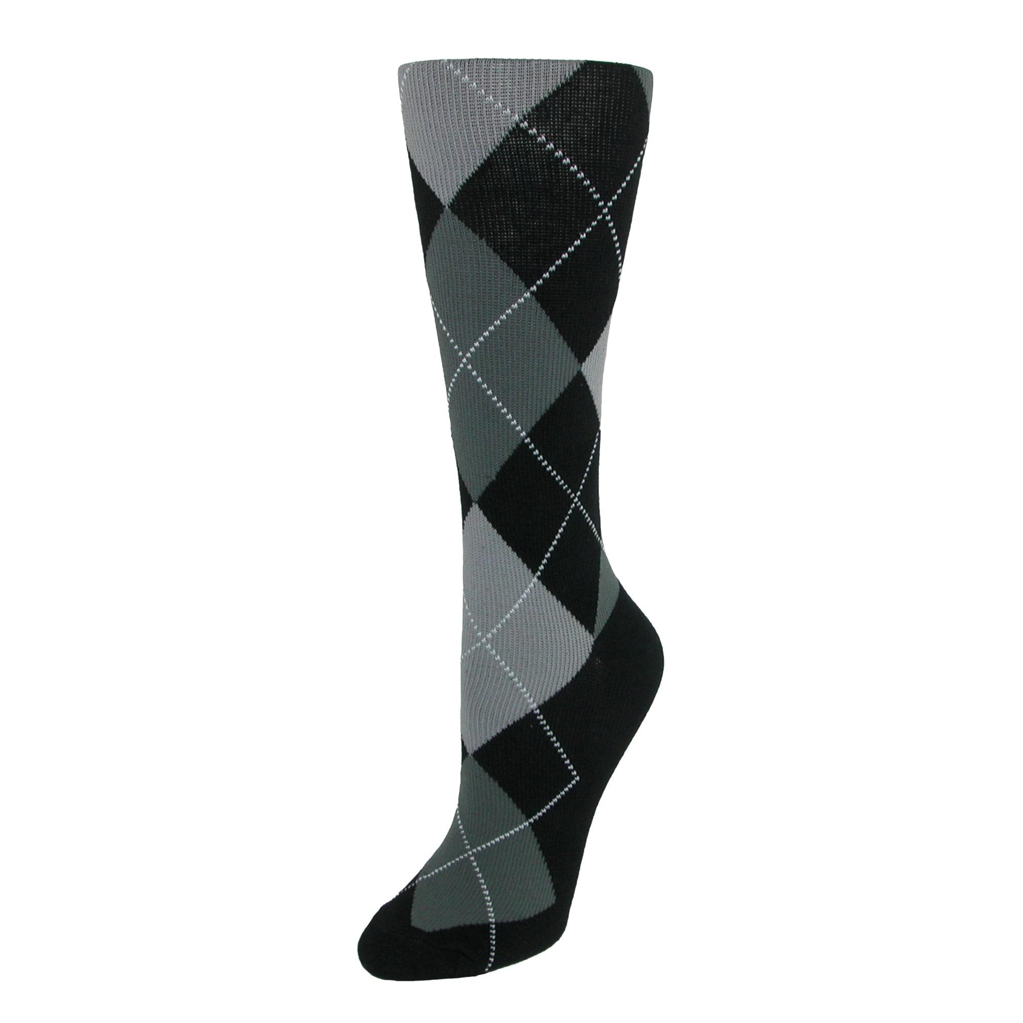 a16039e728 Shop Fine Fit Women's Argyle Compression Socks - Free Shipping On ...