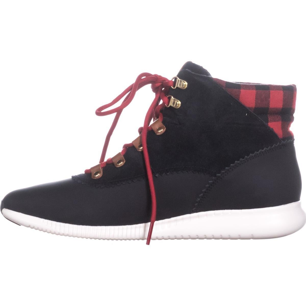 fd14b314d17 Cole Haan 2.0 Zerogrand Lace-Up Hiker Boots, Black/Buffalo Check
