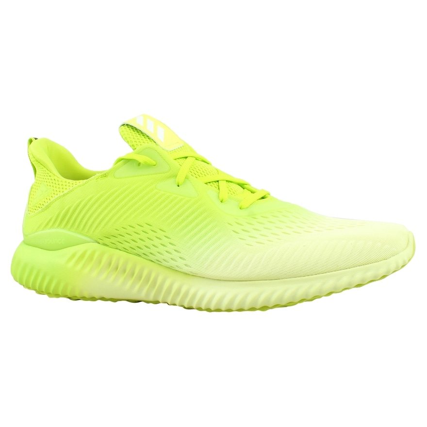 3364312e1 Shop Adidas Mens Alpha Bounce Em M Green Running Shoes Size 14 ...