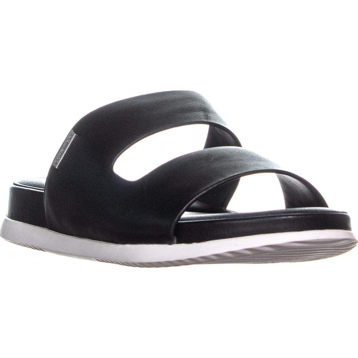 Womens Open Klein Sandals Casual Slide Calvin Diona Toe qULSzMVpG