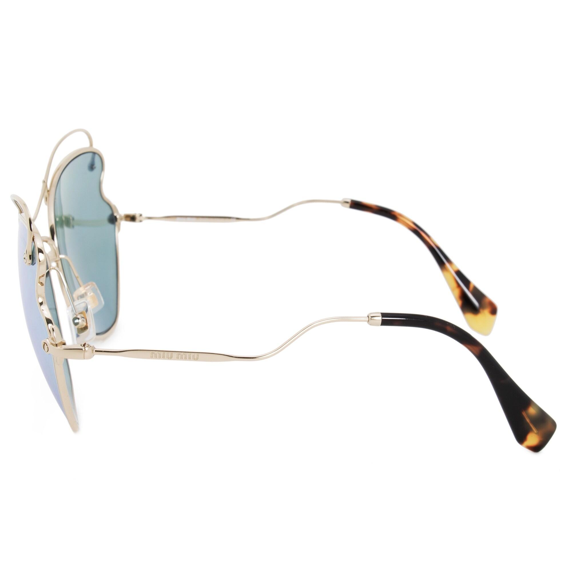 95cf38fbcf34 Shop Miu Miu Oval Sunglasses SMU56RS ZVN5Q0 65 - Free Shipping Today -  Overstock - 21408723