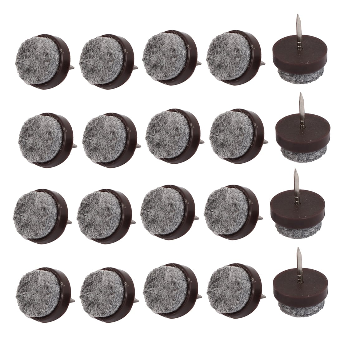 Table Legs Floor Protector Felt Furniture Feet Nails Coffee Color 17mm Dia 20pcs Free Shipping On Orders Over 45 18450519
