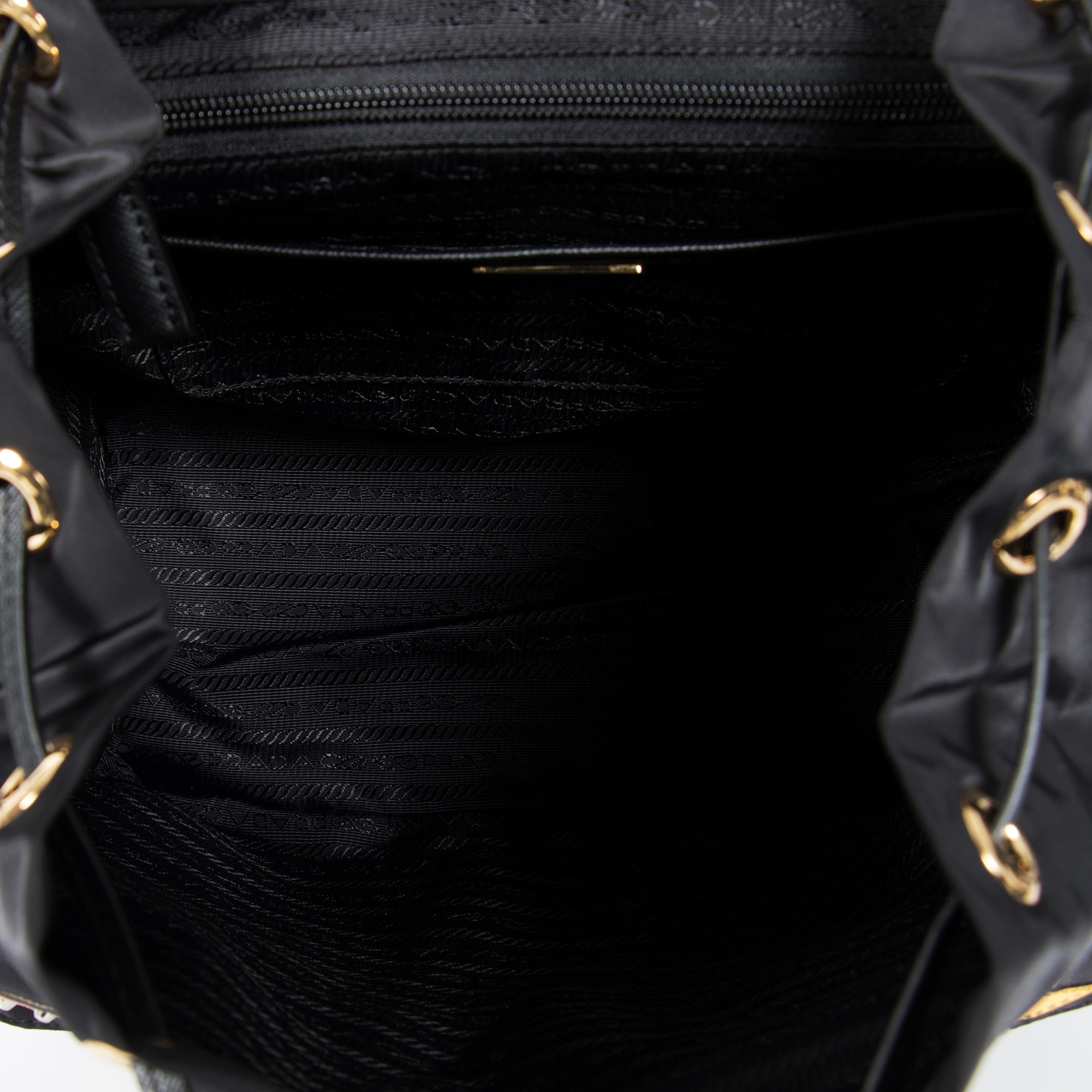 0e31aac327f3 Shop Prada Black Fabric Backpack With Robot Motif - Free Shipping Today -  Overstock - 23085386