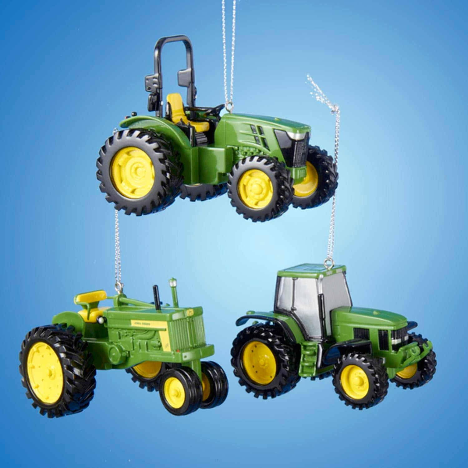 Shop Club Pack of 12 John Deere Tractor Decorative Christmas ...