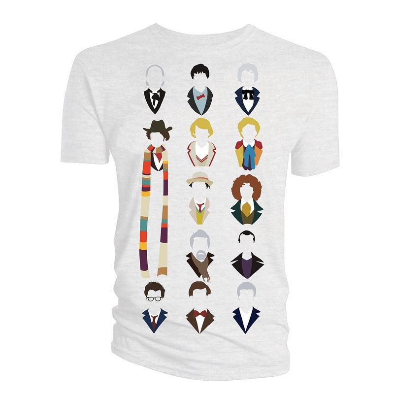 631255174588d Shop Doctor Who Classic Mens T-Shirt Vector All Heads Inc War And Twelve -  Free Shipping On Orders Over  45 - Overstock.com - 15020576