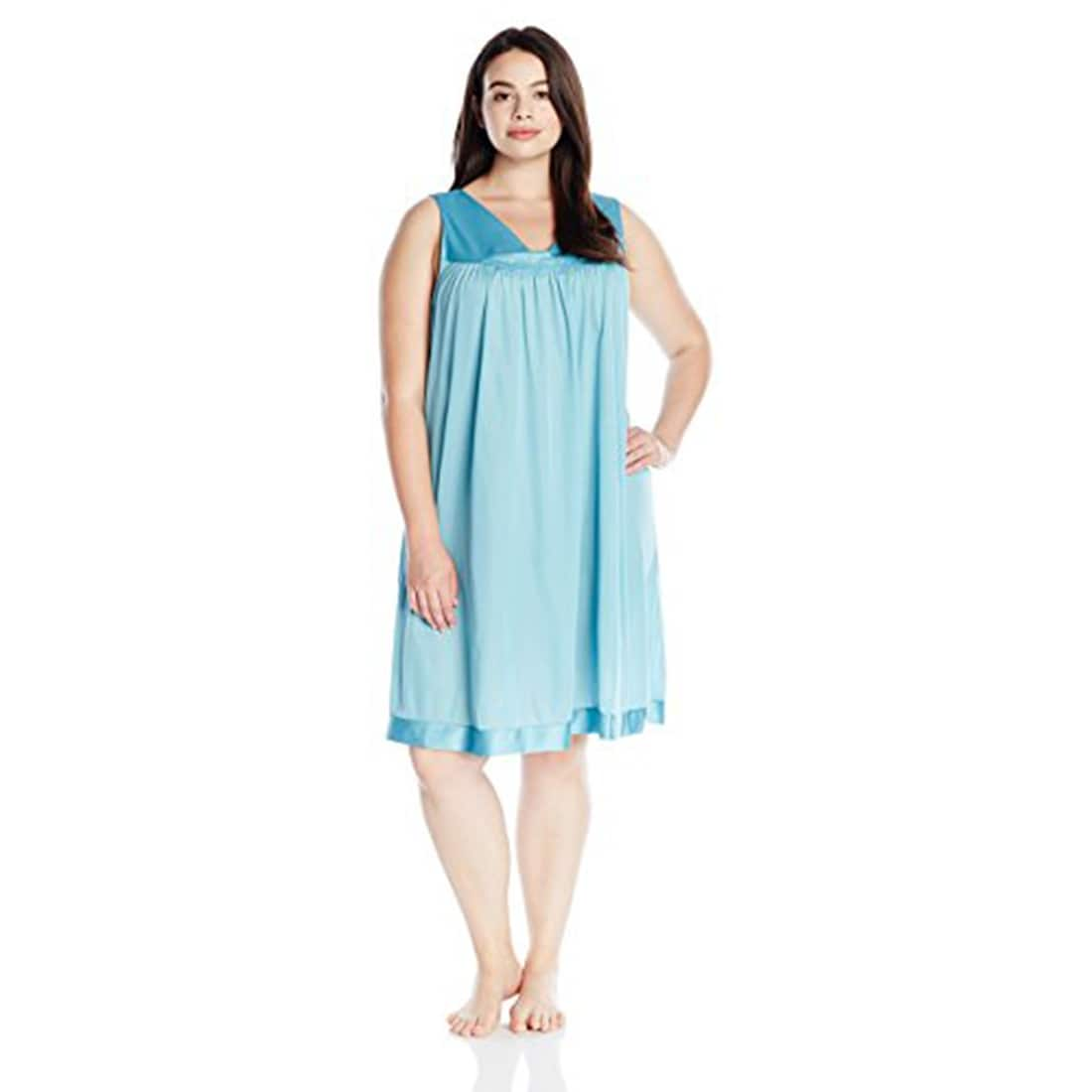Shop Vanity Fair Women\'s Plus Size Coloratura Sleepwear Short Gown ...