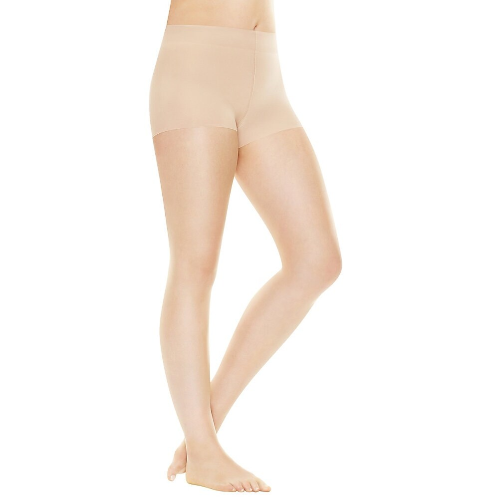 4eba950e0f5 Shop Hanes Perfect Nudes™ Run Resistant Tummy Control Girl Short Hosiery -  Size - S - Color - Transparent Nude 1 - Free Shipping On Orders Over  45 ...
