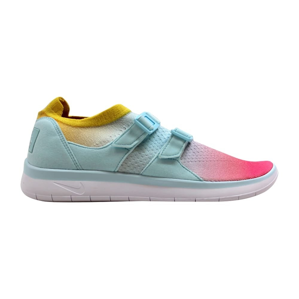 huge selection of 24113 ffaff Shop Nike Air Sockracer Flyknit White Glacier Blue-Racer Pink 896447-100  Women s - On Sale - Free Shipping On Orders Over  45 - Overstock - 19508134