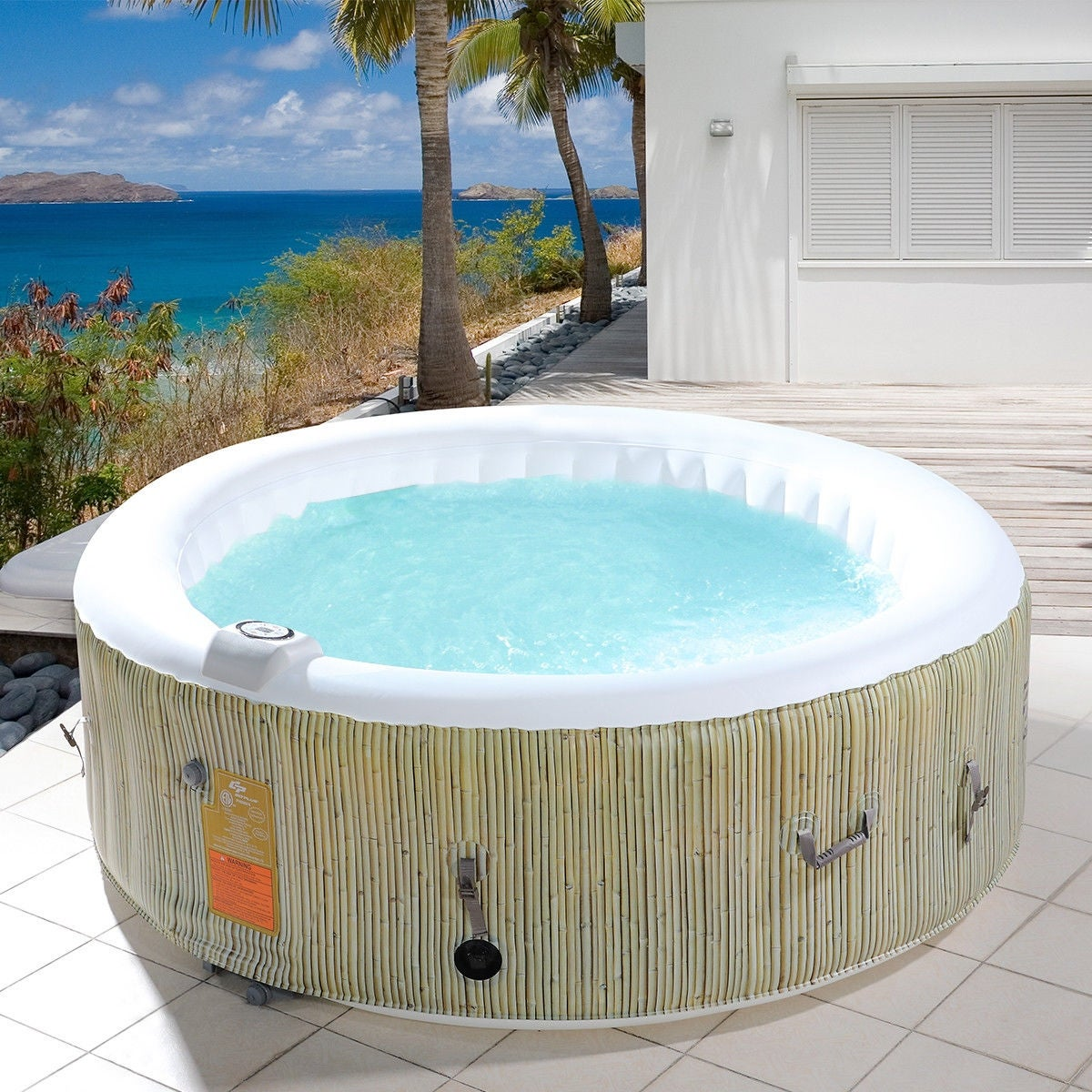 Shop Goplus 4-6 Person Inflatable Hot Tub Outdoor Jets Portable ...