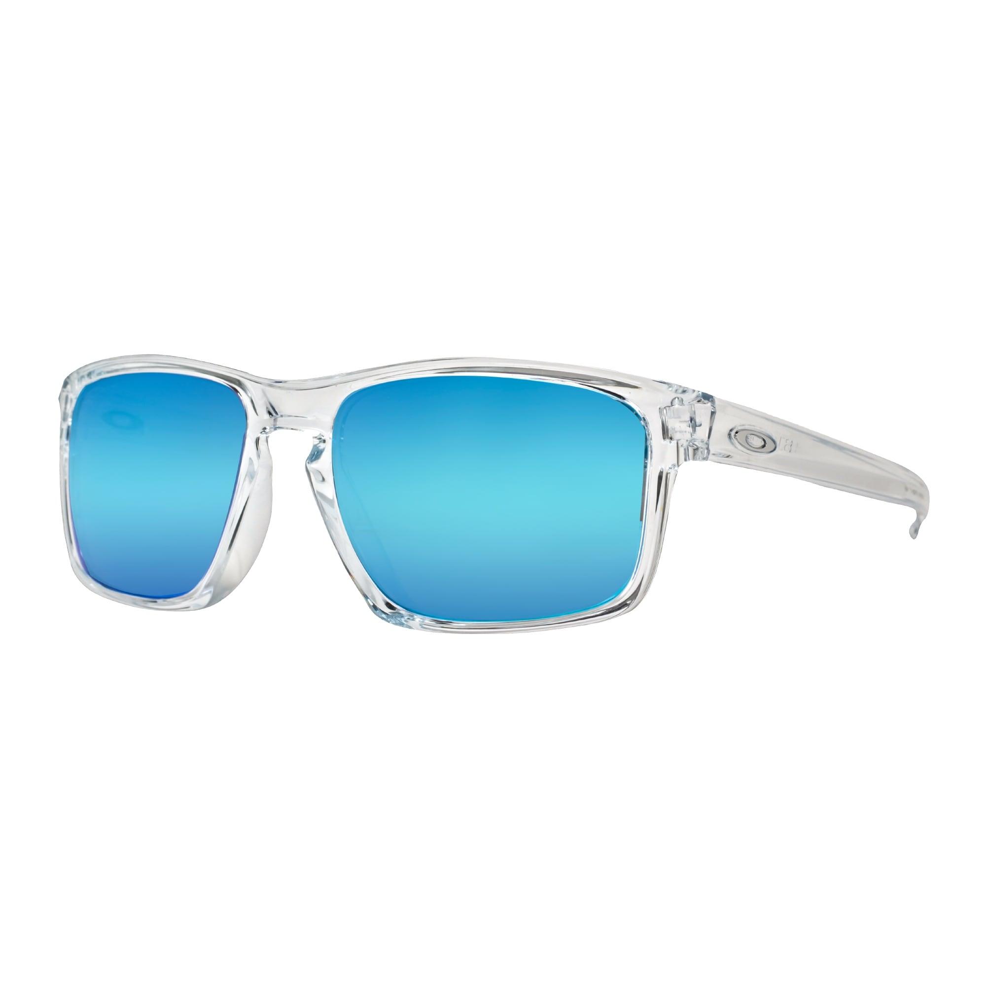 Shop Oakley Sliver OO9269-04 Polished Clear Blue Sapphire Iridium ...