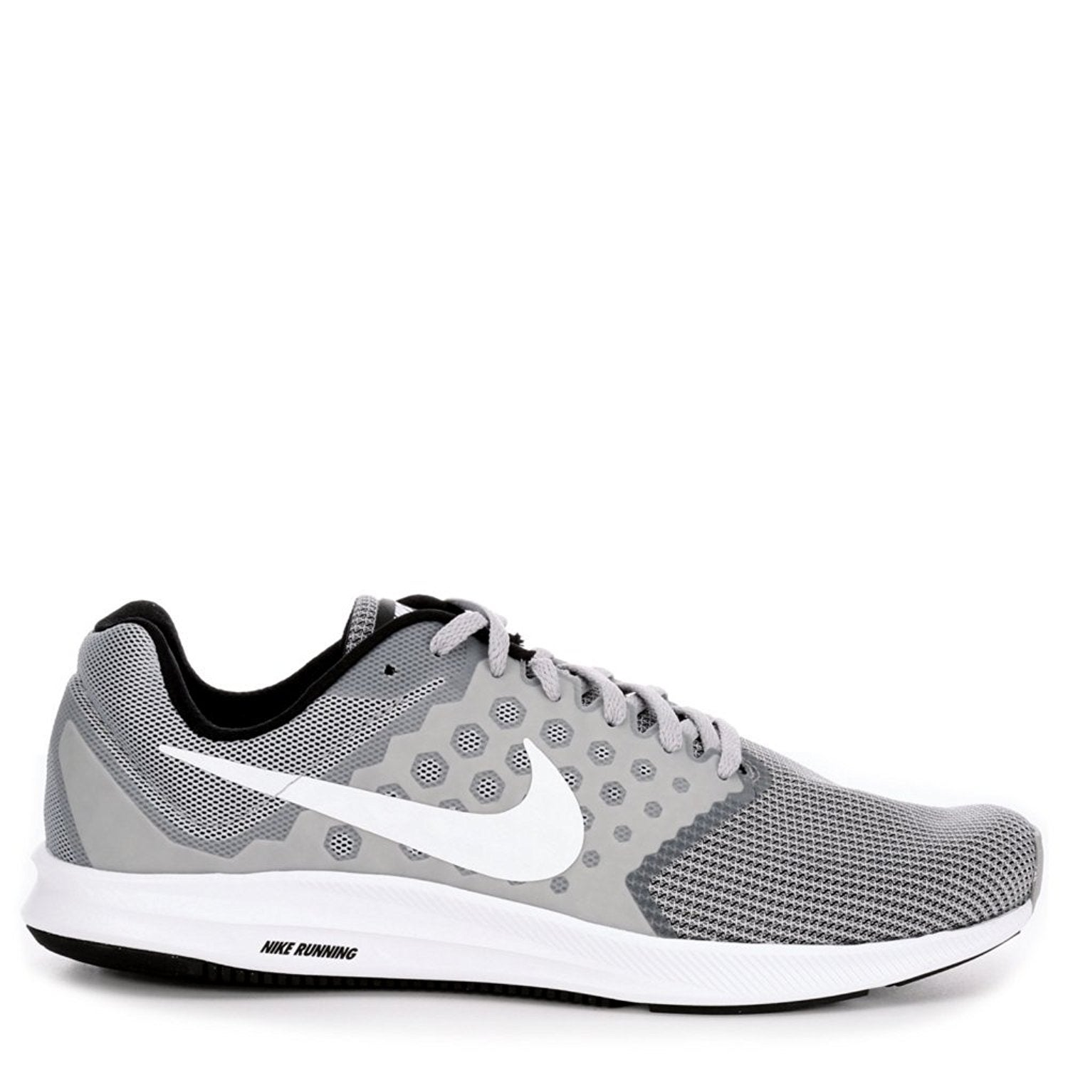 fe77751da1bd6 Shop Nike Downshifter 7 Wolf Grey White Men s Black Running Shoes - wolf  grey white black - Free Shipping Today - Overstock - 18275029