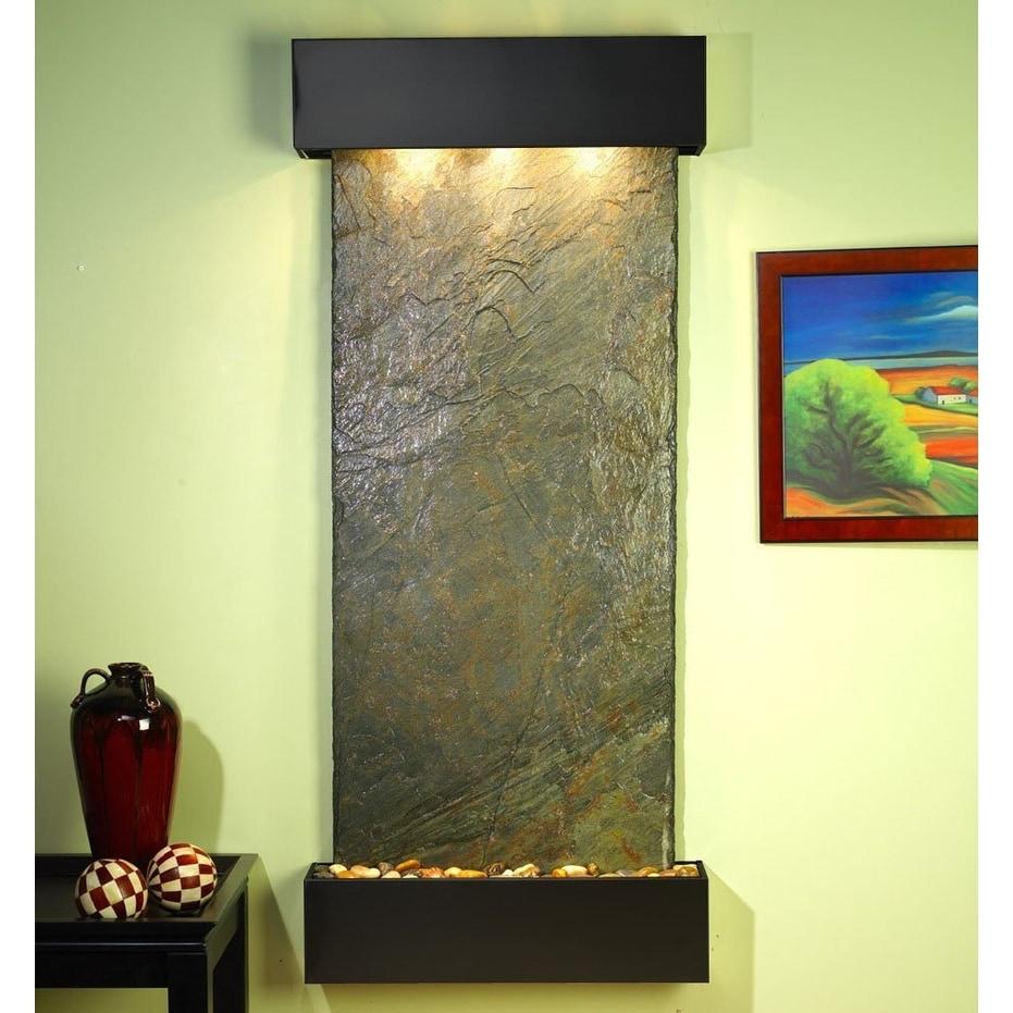 Adagio Inspiration Falls Wall Fountain Green Solid Slate Blackened ...