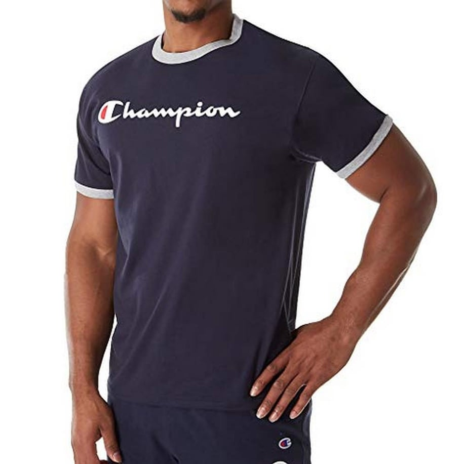 c9691adf Shop Champion Mens Graphic Jersey Ringer Tee, Adult - On Sale - Free ...