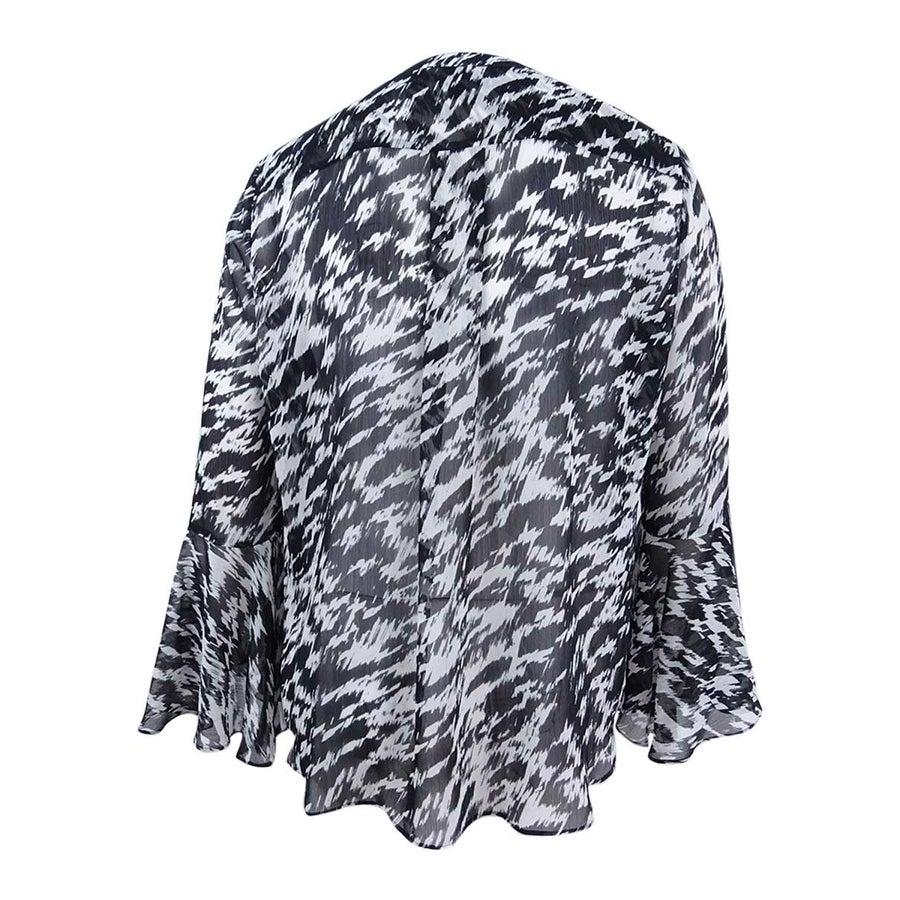 675fbe78e74 Shop Tahari ASL Women s Plus Size Animal-Print Blouse - Black Ivory - Free  Shipping On Orders Over  45 - Overstock - 23102991