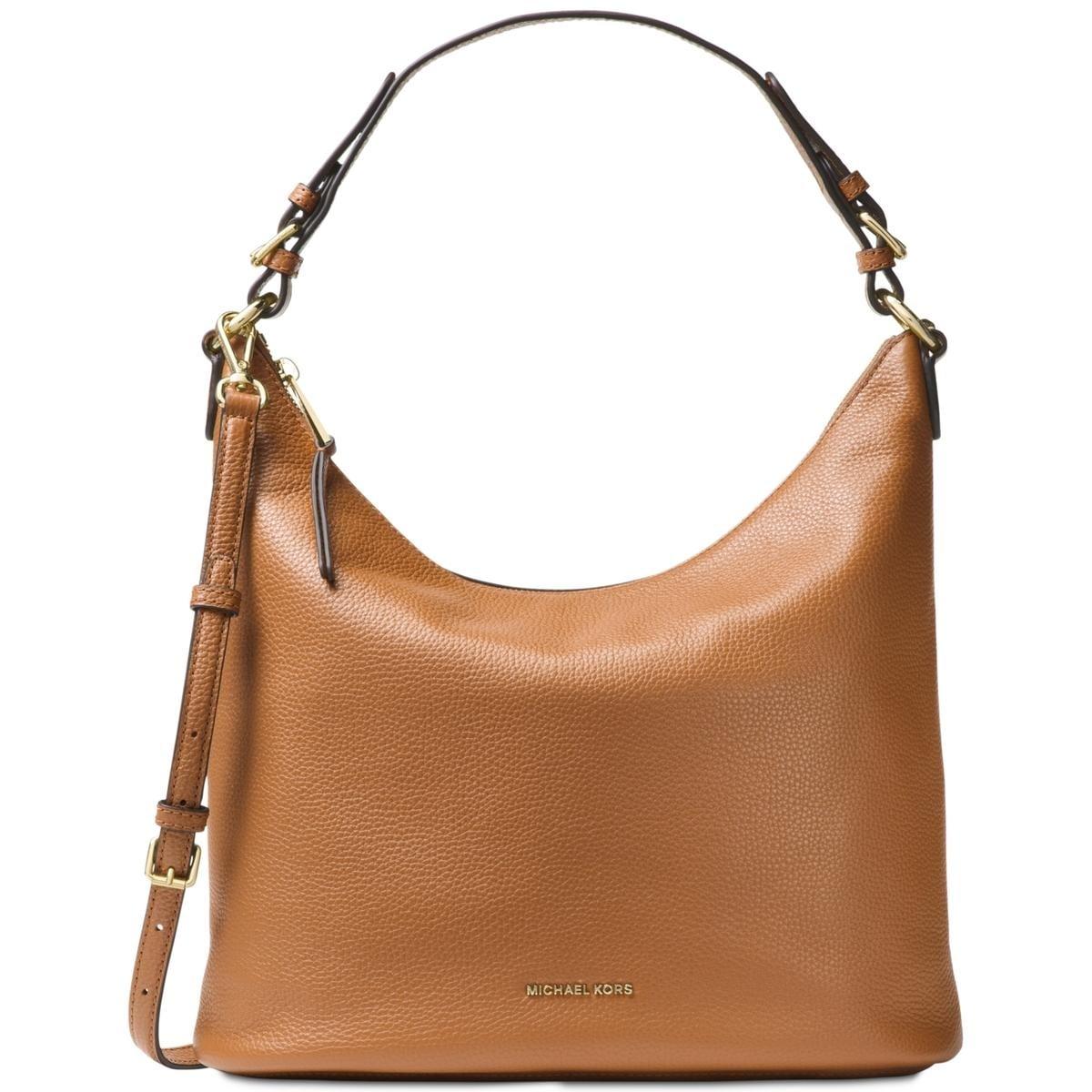 dc851d51bade Shop MICHAEL Michael Kors Womens Lupita Hobo Handbag Leather Pebbled -  LARGE - Free Shipping Today - Overstock - 22679135