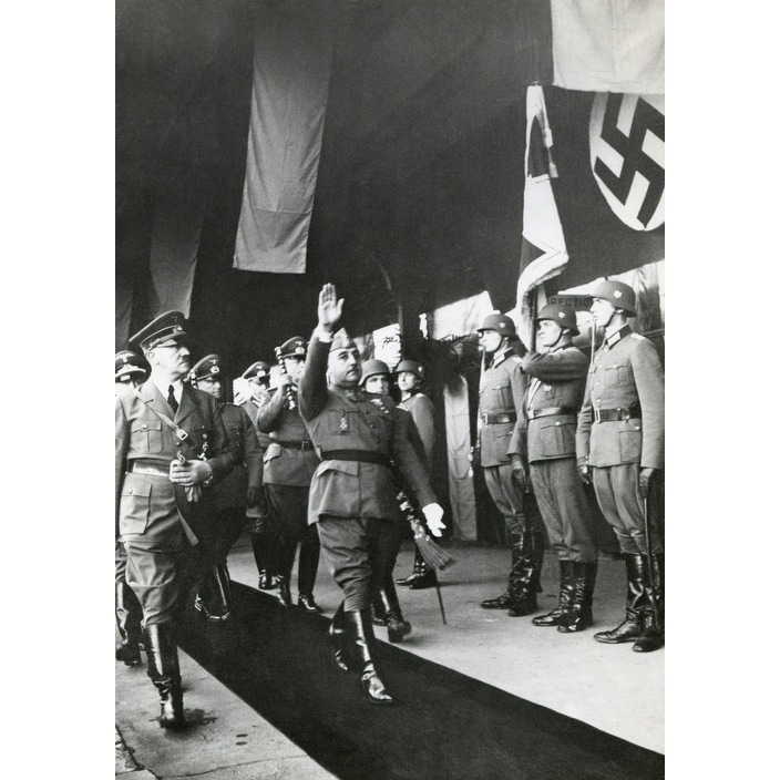 f5c894dd67c841 Shop Spanish Fascist Dictator Francisco Franco And Adolf Hitler Salute At  Hendaye History - Free Shipping On Orders Over  45 - Overstock - 24380272