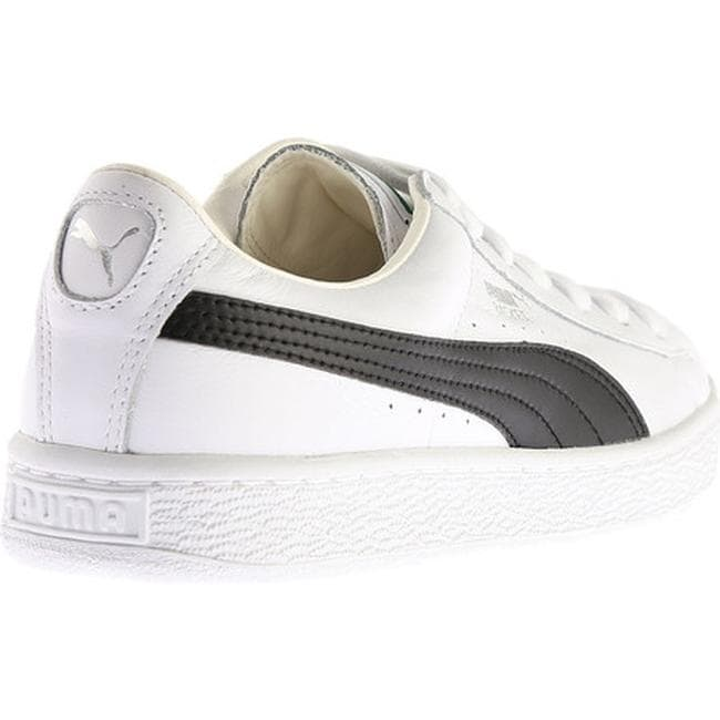 sports shoes 65cde 599e5 Shop PUMA Men s Basket Classic LFS Sneaker White Black - Free Shipping  Today - Overstock.com - 14283789