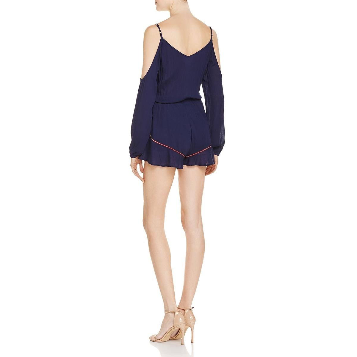 8ac23b5c296c Shop Band of Gypsies Womens Romper Embroidered V-Neck - On Sale - Free  Shipping On Orders Over  45 - Overstock - 22485556