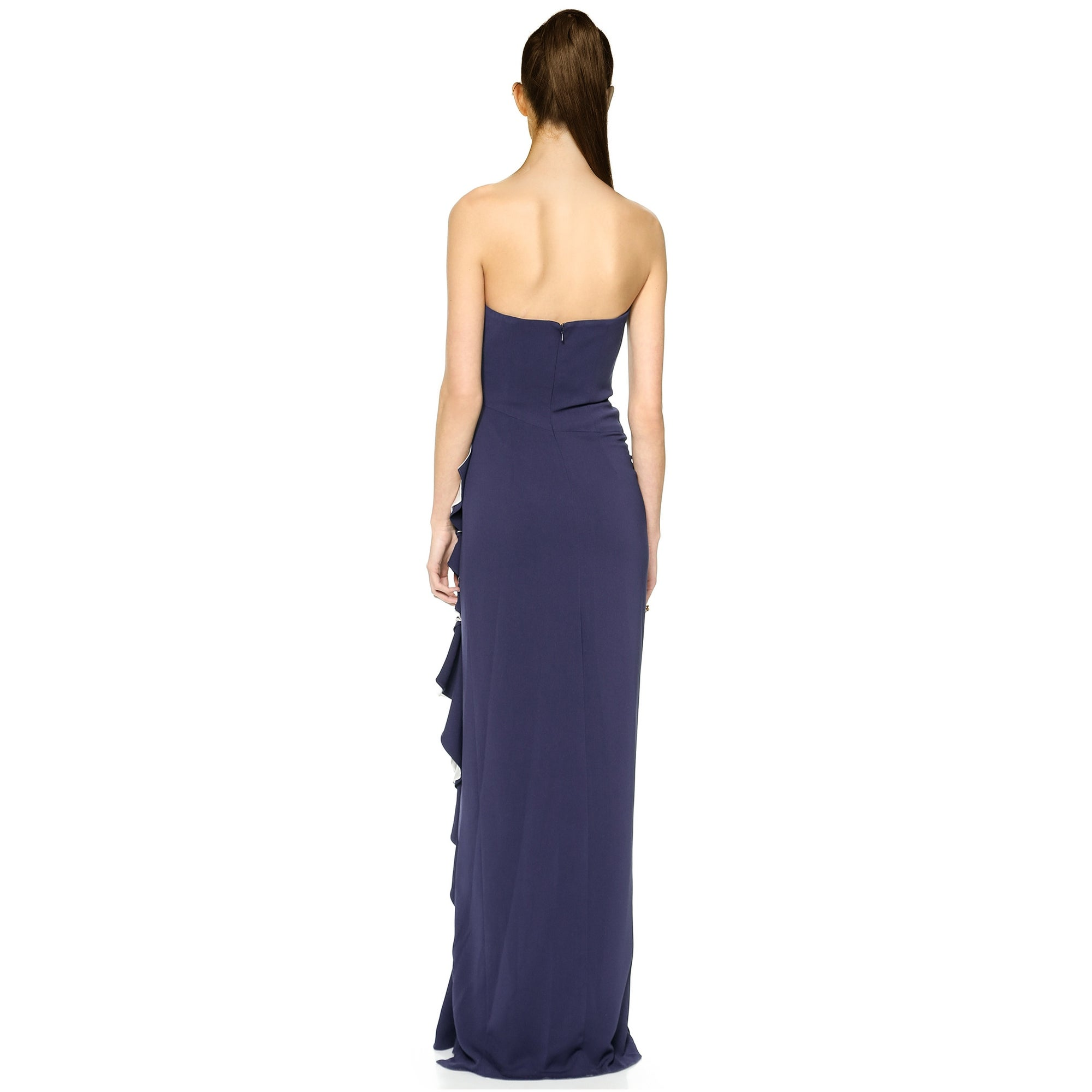 f89618471ef9 Shop Badgley Mischka Contrast Ruffle Strapless Evening Gown Dress - 10 -  Free Shipping Today - Overstock - 18324615