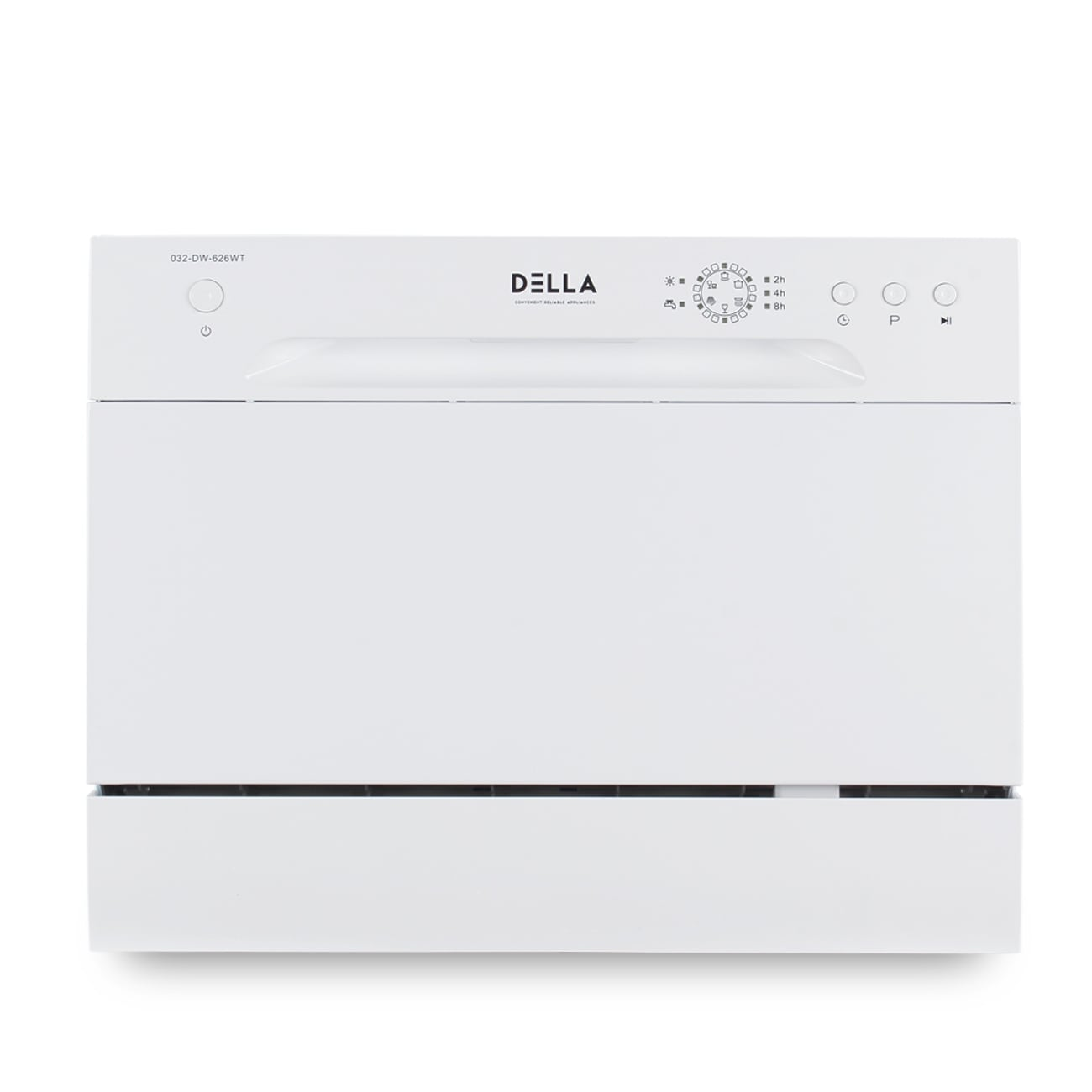 Shop DELLA Countertop Portable Dishwasher Stainless Steel W/ 6 Place  Settings U0026 LED Display   Free Shipping Today   Overstock.com   22902380