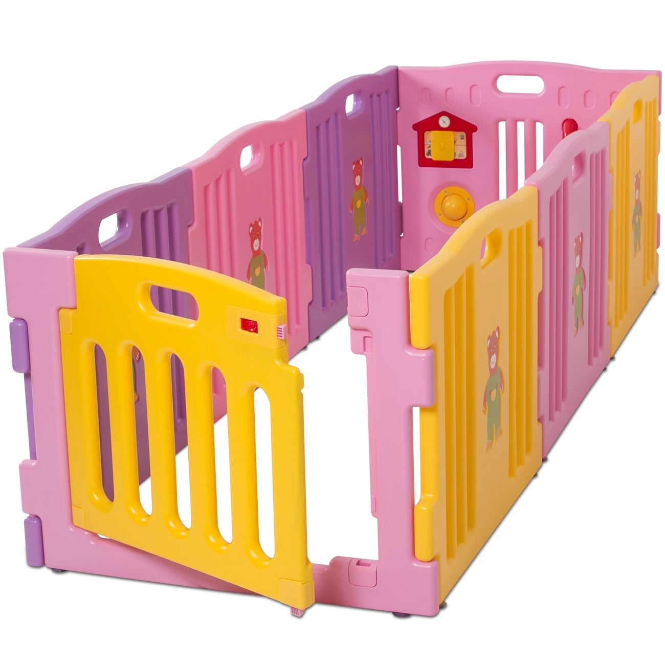 Shop Kidzone Baby Playpen Kids 8 Panel Safety Play Center Yard Home Indoor  / Outdoor Girls (Pink)   Free Shipping Today   Overstock.com   16085166