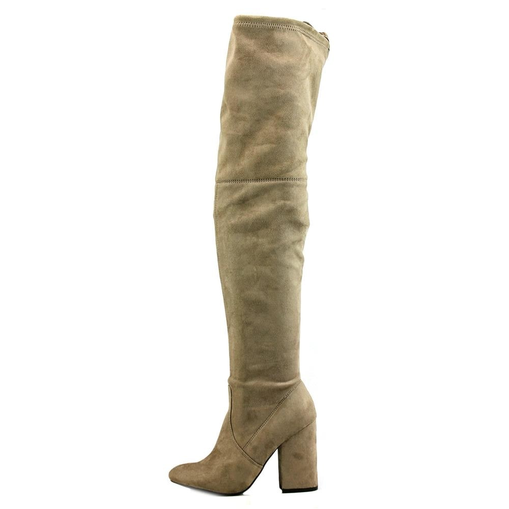0e5999c8083 Shop Steve Madden Norri Women Round Toe Synthetic Gray Over the Knee Boot -  Free Shipping On Orders Over  45 - Overstock.com - 17836518