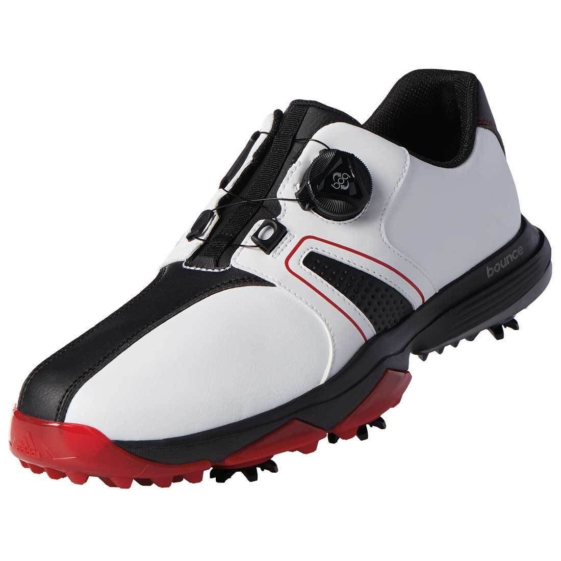 timeless design c701d ffb83 Shop Adidas Men s 360 Traxion BOA White Core Black Red Golf Shoes  Q44951-Q44955 (Medium Only) - Free Shipping Today - Overstock - 26280260