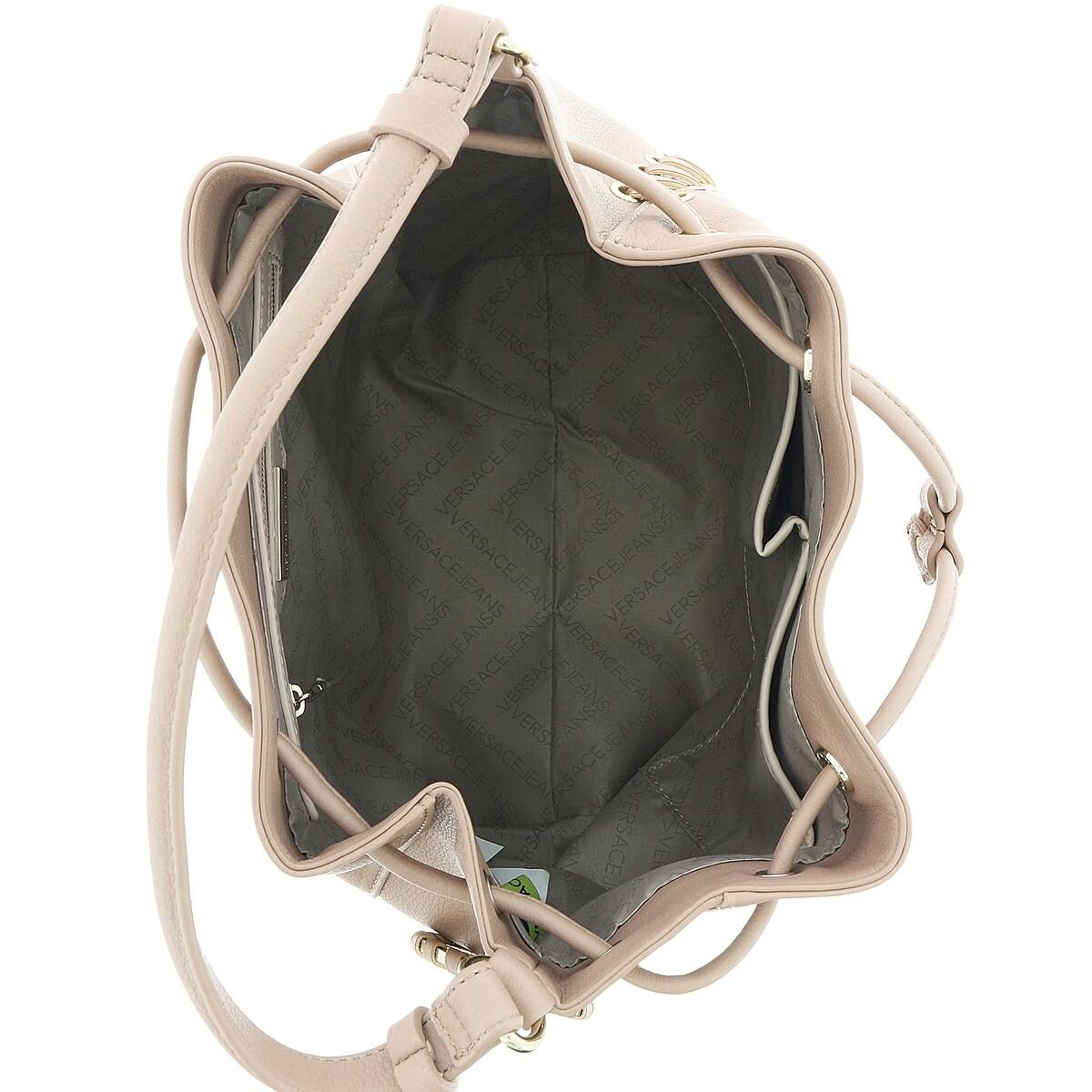 db9c7410d64f Shop Versace EE1VRBBI3 Light Brown Bucket Bag W  detachable strap - Free  Shipping Today - Overstock - 25601825