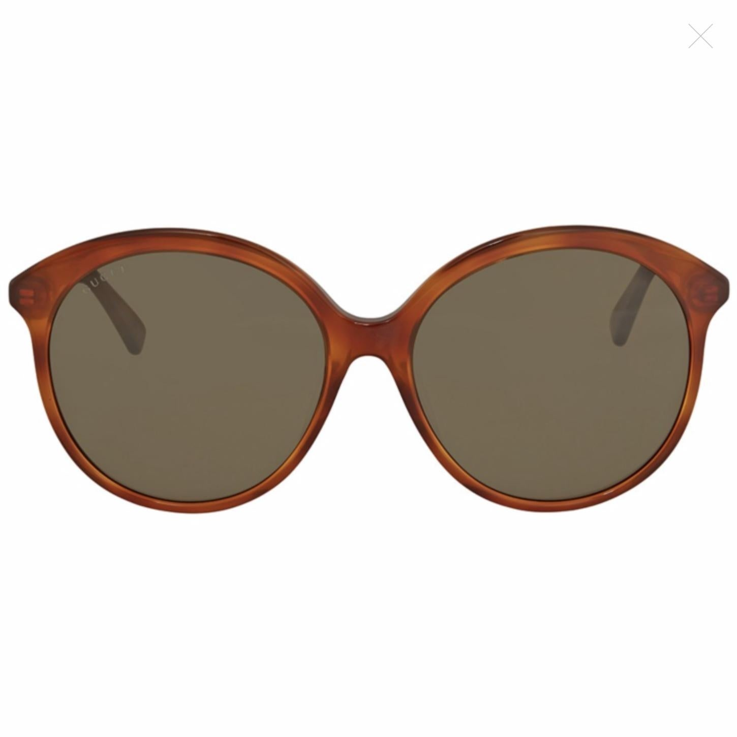 72ee14d995f Shop Gucci Brown Round Sunglasses Gg0257Sa-002 59 - HAVANA-HAVANA-BROWN -  One Size - Free Shipping Today - Overstock - 24266466
