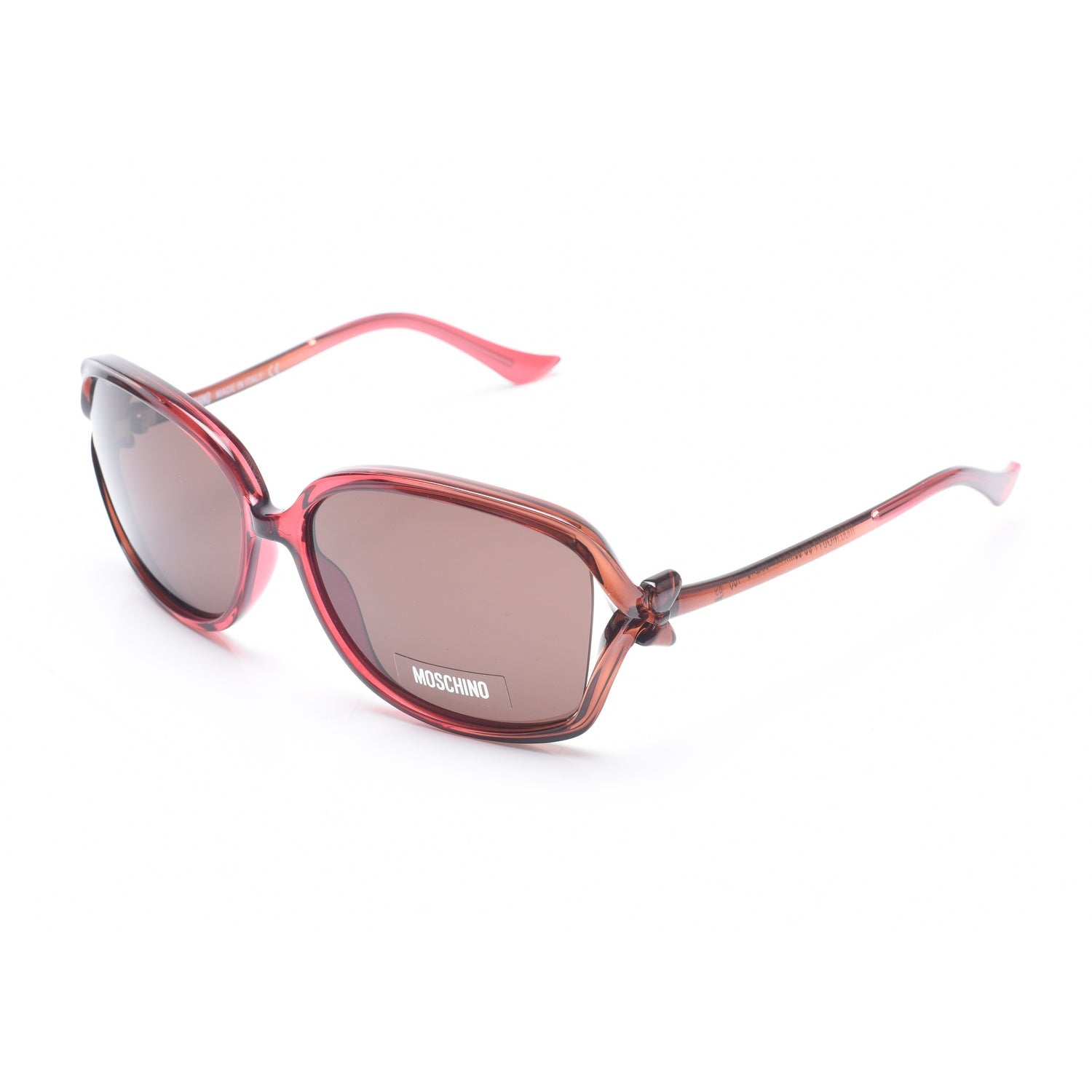 ef75f32e2 Shop Moschino Women's Bow Detailed Oversized Sunglasses Red - Small - Free  Shipping Today - Overstock - 13405229