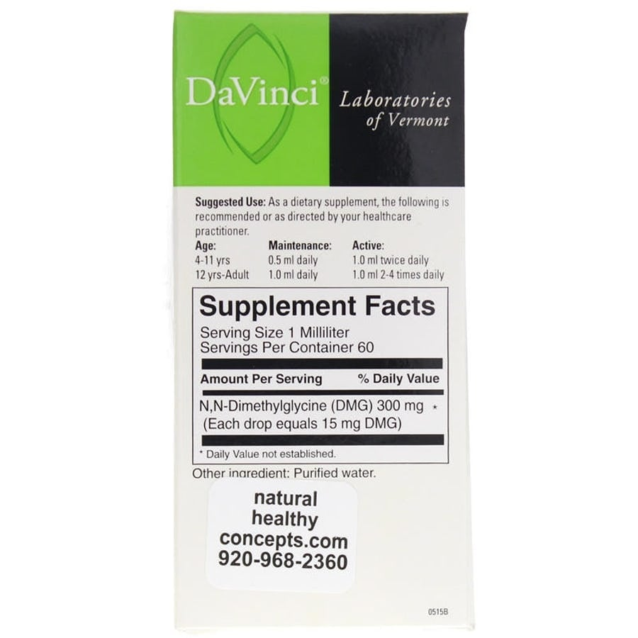 DaVinci Laboratories Gluconic Liquid DMG 300mg 2 fl oz - 60 Serving -  Endurance - Immune System Function - Mental Acuity