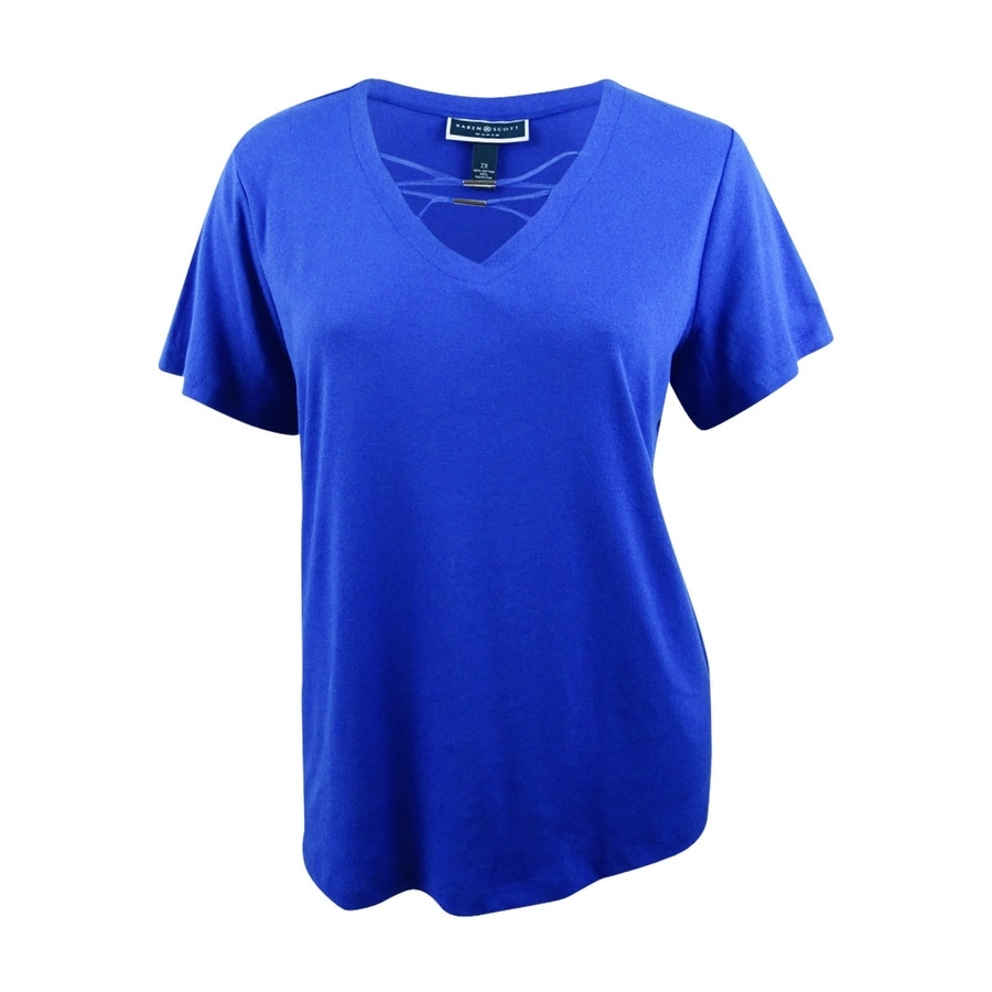 1588ae16 Shop Karen Scott Women's Plus Size Hardware T-Shirt - On Sale - Free  Shipping On Orders Over $45 - Overstock - 28050843