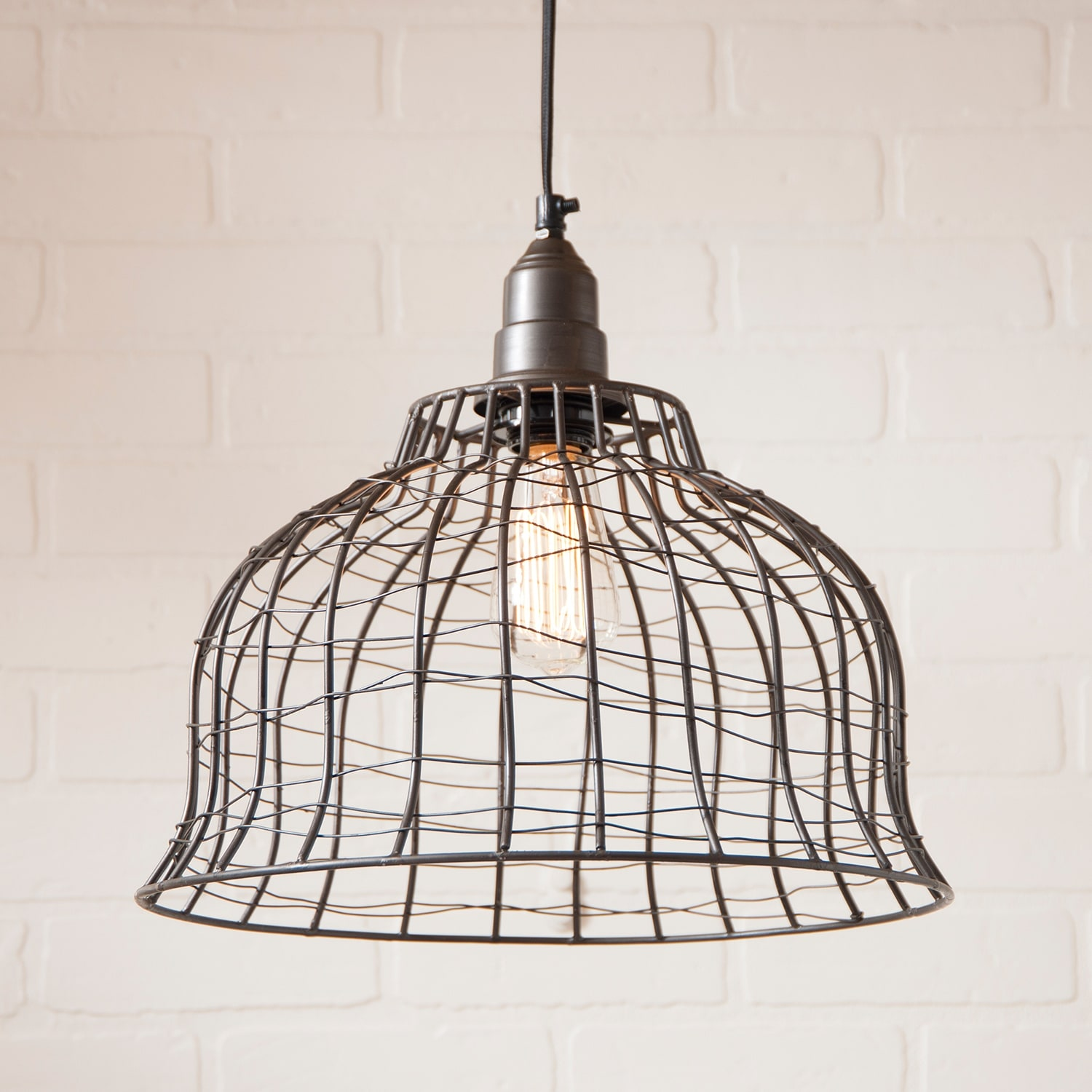 Industrial Wire Cage Pendant in Smokey Black - Free Shipping Today ...