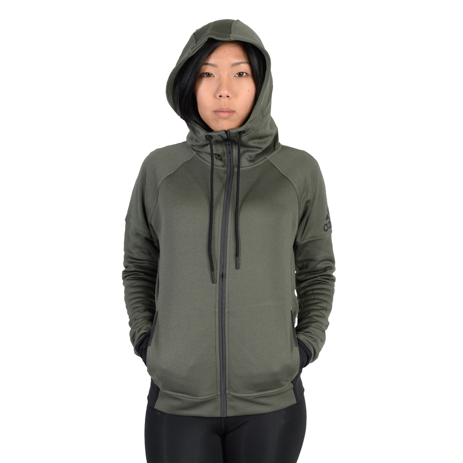 e555e09d0993 Shop Adidas Womens Adidas Infinite Series Daybreaker Hoodie Army Green - Army  Green Black - Free Shipping Today - Overstock - 22573892