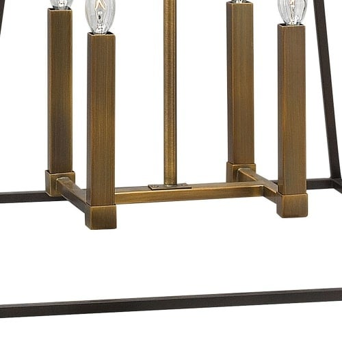 hinkley lighting 3334 4 light 16 25 height indoor lantern pendant