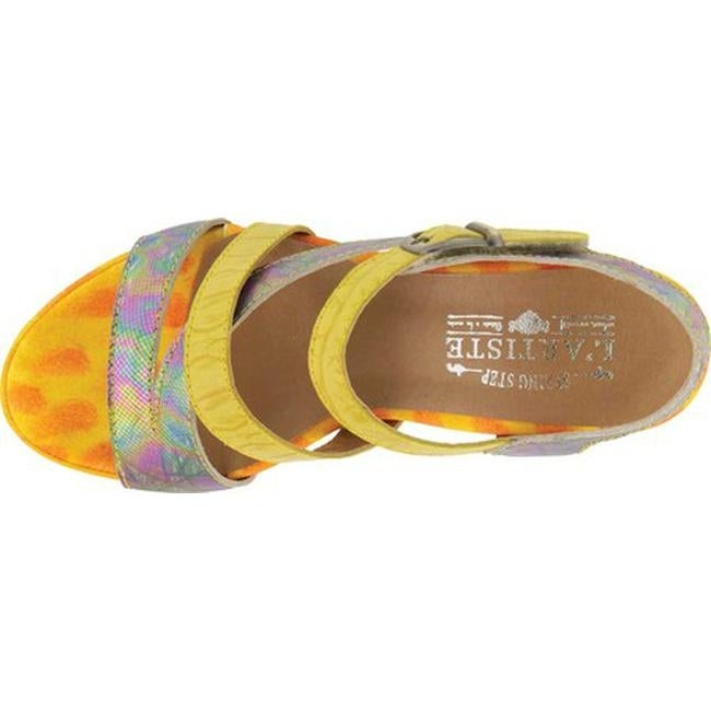 83f1753f02715 Shop L Artiste by Spring Step Women s Leanna Strappy Sandal Yellow Multi  Leather - Free Shipping Today - Overstock.com - 19891661