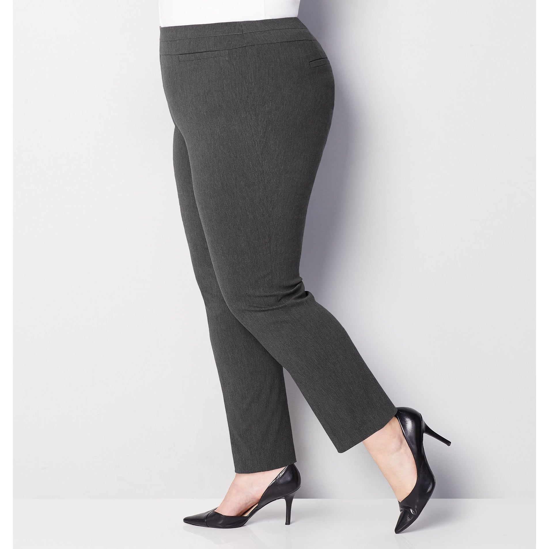 5a7dd1c13 Shop AVENUE Women s Super Stretch Welt Pocket Pull-On Pant in Grey - Dark  Grey - Free Shipping On Orders Over  45 - Overstock - 27421961