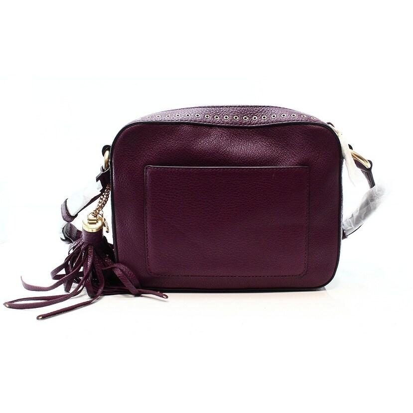 ea63208fd ... where can i buy shop michael kors new purple leather brooklyn crossbody camera  bag purse free