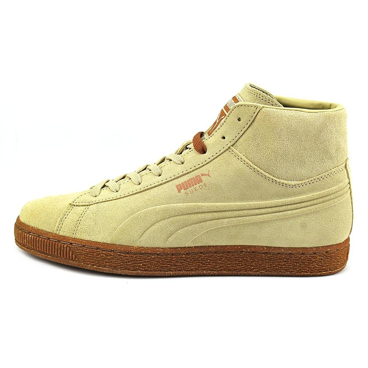 94e707284b1c Shop PUMA Mens Emboss Mixed Suede Hight Top Lace Up Fashion Sneakers - Free  Shipping On Orders Over  45 - Overstock.com - 19834935