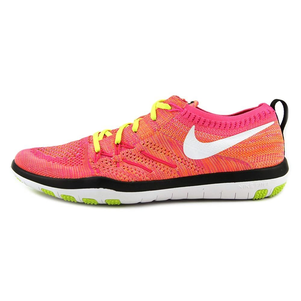 the latest 457af c570d Shop Nike Free Tr Focus Flyknit Women Round Toe Synthetic Pink Tennis Shoe  - Free Shipping Today - Overstock - 19214658