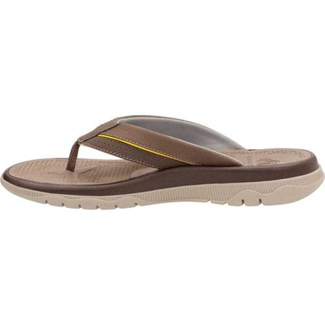 8e7f34f3057ac Shop Clarks Men s Balta Sun Flip Flop Dark Brown Synthetic - On Sale - Free  Shipping Today - Overstock - 14222681