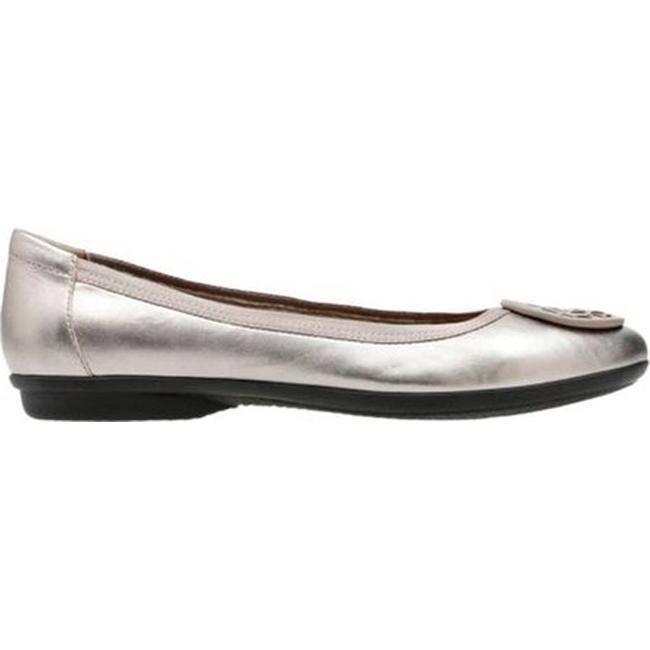 037b6aaaa4a8 Shop Clarks Women s Gracelin Lola Ballet Flat Pewter Metallic Full Grain  Leather - On Sale - Free Shipping Today - Overstock - 20590138