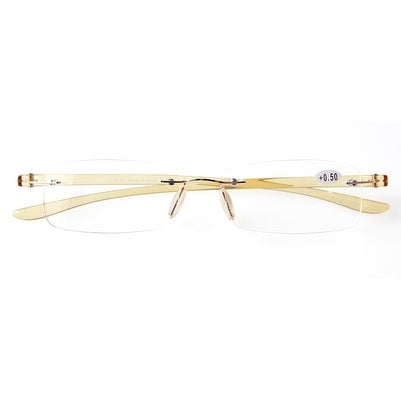 625baa68888f Shop Eyekepper Readers Small Lenes Rimless Reading Glasses Yellow Arm +1.5  - Free Shipping On Orders Over $45 - Overstock - 16023301