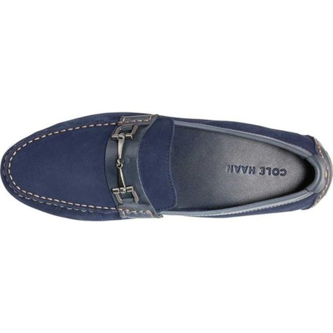 4f113b014f0 Shop Cole Haan Men s Somerset Link Bit Driver Moc Marine Blue Leather -  Free Shipping Today - Overstock - 21797192