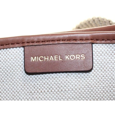 6c812f13f3ba33 Shop Michael Kors NEW Ivory Canvas Maritime Large Beach Tote Bag Purse - Free  Shipping Today - Overstock - 19751860