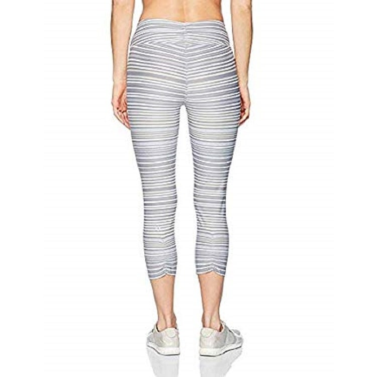 44248a44e9b8e Shop Calvin Klein Performance Journey Striped Capri Women's Leggings Grey  Size Extra Large - XL (16) - On Sale - Free Shipping On Orders Over $45 ...