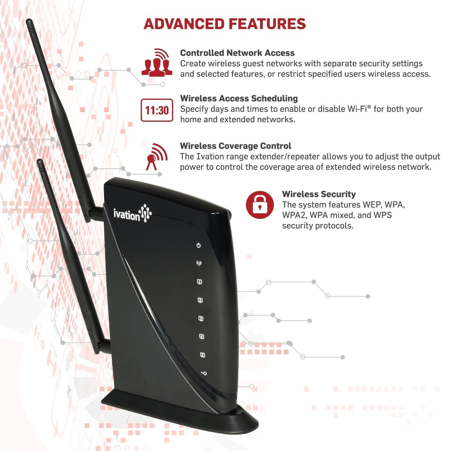 Internet WIFI Booster High Power Wireless-N 600mW Range Extender Wi Fi  Wireless Repeater With MIMO Technology