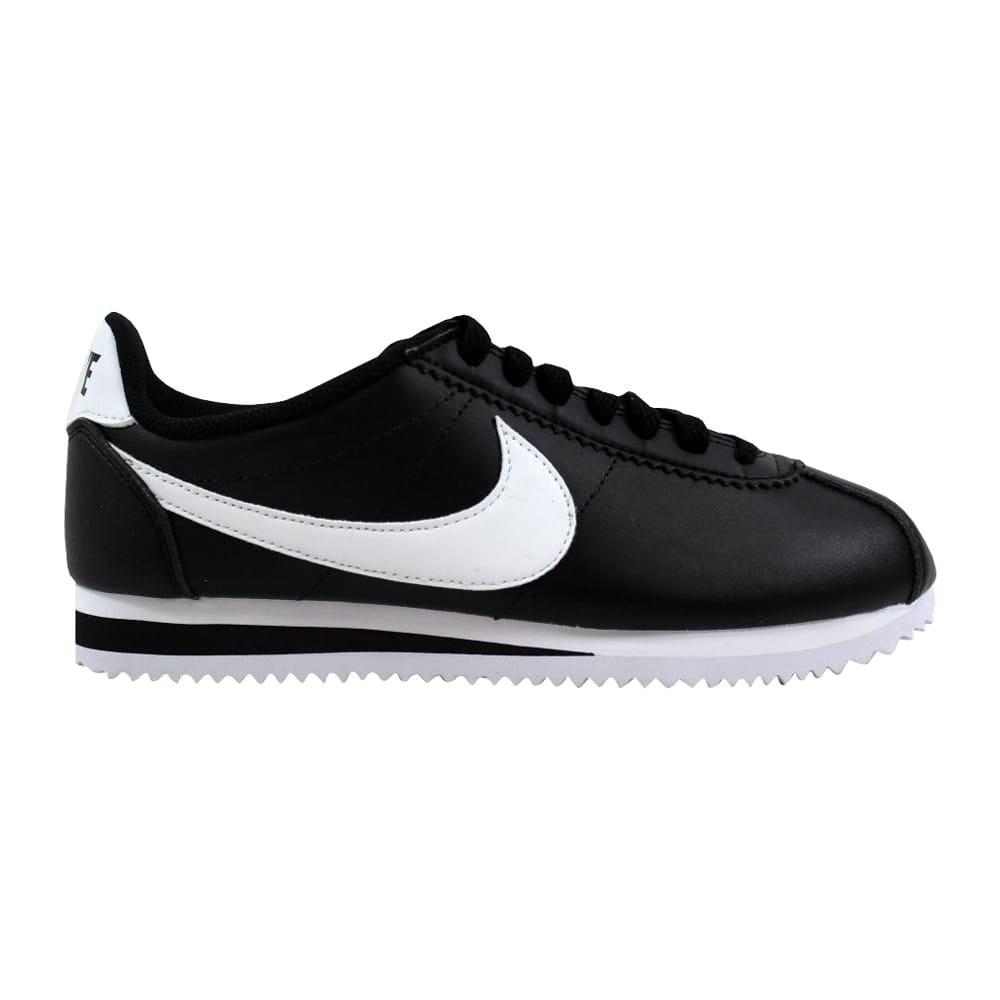 dfc307d77f17 Shop Nike Classic Cortez Leather Black White-White 807471-010 ...