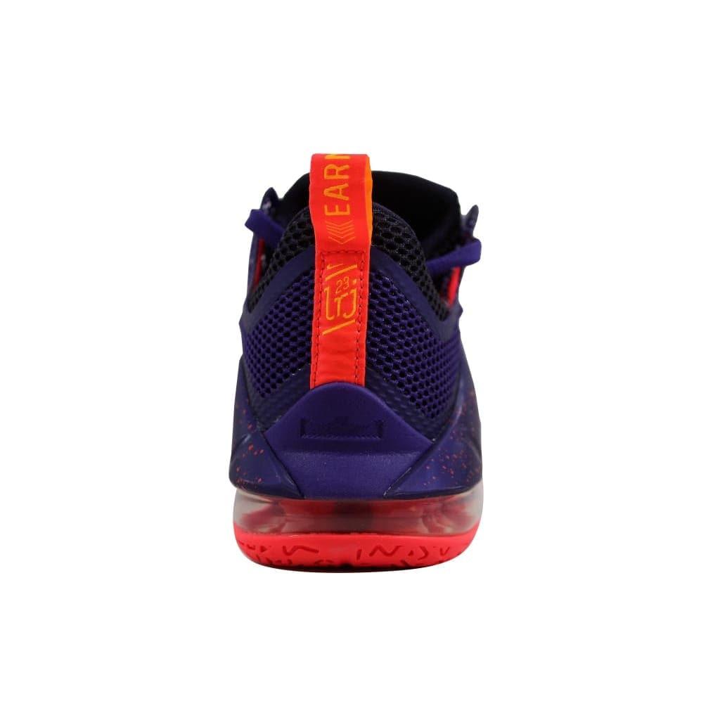 4fe0d7bc579bc Shop Nike Men s Lebron XII 12 Low Court Purple Bright Crimson-Cave Purple  724557-565 - Free Shipping Today - Overstock - 23436716